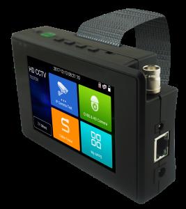4 inch multifunction test monitor with IP AHD TVI CVI CVBS input